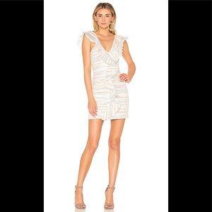 TULAROSA/REVOLVE Brittany stripe ruffle mini dress
